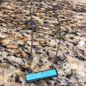 Jewelry - Turquoise Bar Necklace